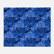 Blue Roses Throw Blanket