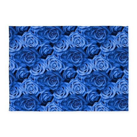 Blue Roses 5'x7'Area Rug