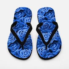 Blue Roses Flip Flops