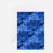 Blue Roses Greeting Cards