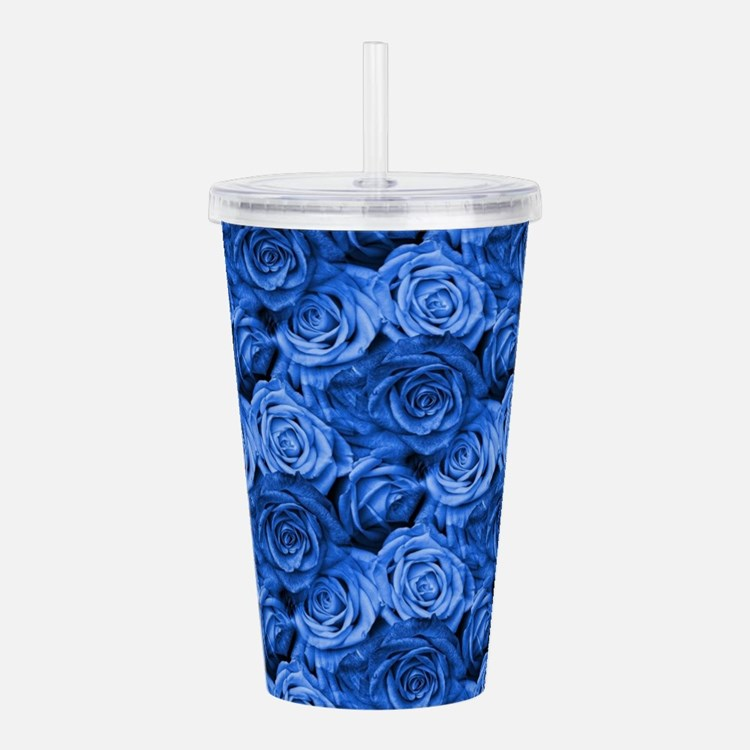 Blue Roses Acrylic Double-wall Tumbler