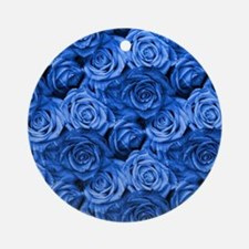 Blue Roses Ornament (Round)