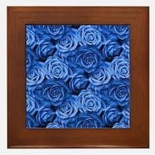 Blue Roses Framed Tile