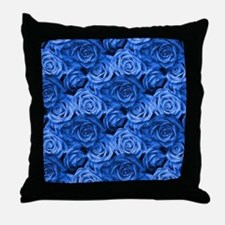 Blue Roses Throw Pillow