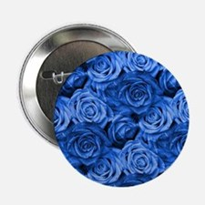 "Blue Roses 2.25"" Button"