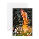 Fairies & Boston Terrier Greeting Cards (Pk of 20)