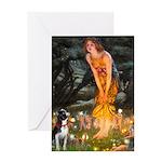 Fairies & Boston Terrier Greeting Card