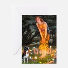 Fairies & Boston Terrier Greeting Card