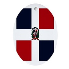 Domincan Flag Oval Ornament