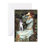 Ophelia & Boston Terrier Greeting Cards (Pk of 20)