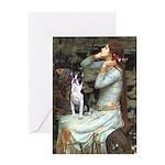 Ophelia & Boston Terrier Greeting Card