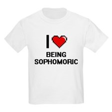 I love Being Sophomoric Digitial Design T-Shirt