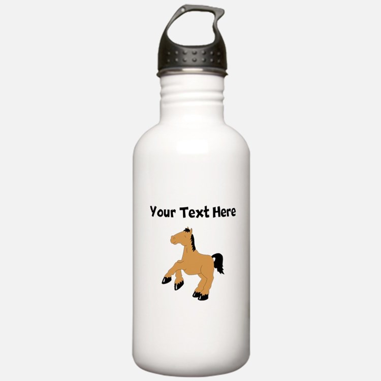 Brown Horse (Custom) Water Bottle