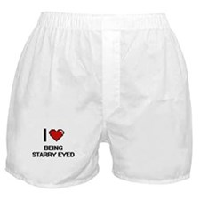 I love Being Starry-Eyed Digitial Des Boxer Shorts