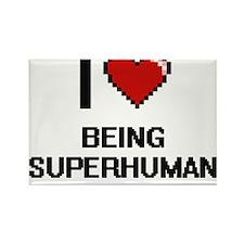 I love Being Superhuman Digitial Design Magnets