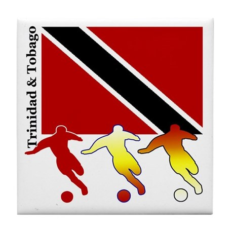 Trinidad Soccer Tile Coaster