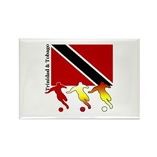 Trinidad Soccer Rectangle Magnet