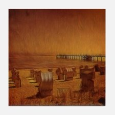Orange Beach Tile Coaster