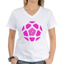 usa soccer ball pink T-Shirt