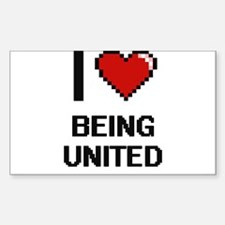 I love Being United Digitial Design Decal