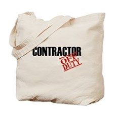 Off Duty Contractor Tote Bag