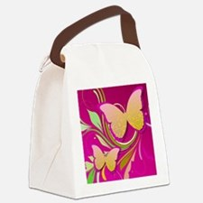 Butterfly Swirl Canvas Lunch Bag