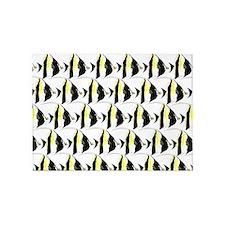 Moorish Idol Fish Pattern 5'x7'Area Rug