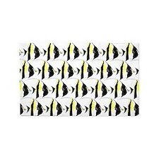 Moorish Idol Fish Pattern Area Rug