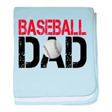 Baseballl Dad baby blanket