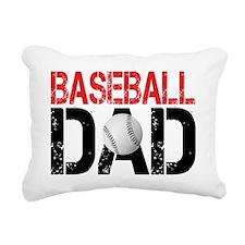 Baseballl Dad Rectangular Canvas Pillow