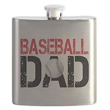 Baseballl Dad Flask