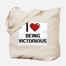 I love Being Victorious Digitial Design Tote Bag