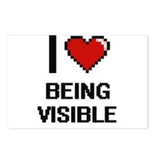 I love Being Visible Digi Postcards (Package of 8)