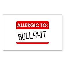 Allergic To Bullshit Decal