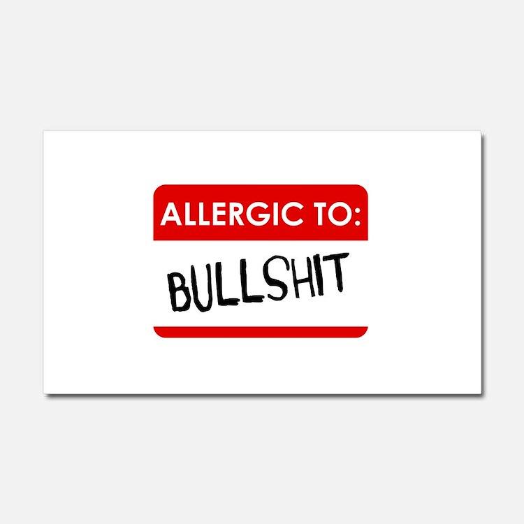 Allergic To Bullshit Car Magnet 20 x 12