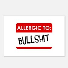 Allergic To Bullshit Postcards (Package of 8)