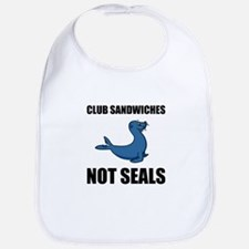 Club Sandwiches Not Seals Bib