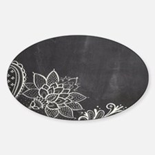 white lace black chalkboard Decal