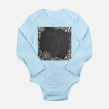 white lace black chalkboard Body Suit