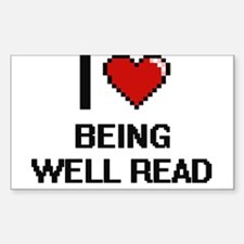 I love Being Well-Read Digitial Design Decal
