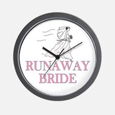 Runaway Bride Too Wall Clock