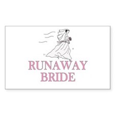Runaway Bride Too Rectangle Decal