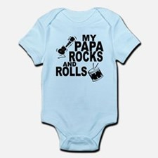 My Papa Rocks And Rolls Body Suit
