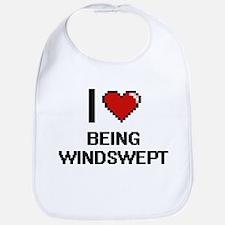 I love Being Windswept Digitial Design Bib