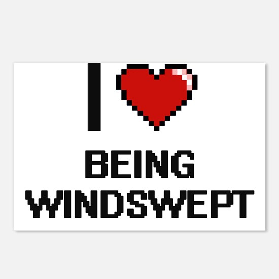 I love Being Windswept Di Postcards (Package of 8)