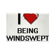 I love Being Windswept Digitial Design Magnets