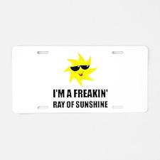 Ray Of Sunshine Aluminum License Plate