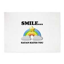 Satan Hates You 5'x7'Area Rug