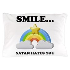 Satan Hates You Pillow Case