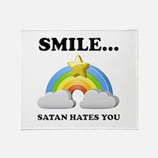 Satan Hates You Throw Blanket